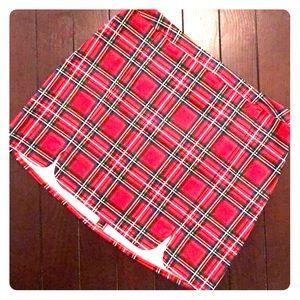 H&M Red Plaid Skirt